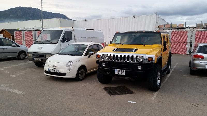 Hummer H2,  gros ou!!!   comparaison... 20150110