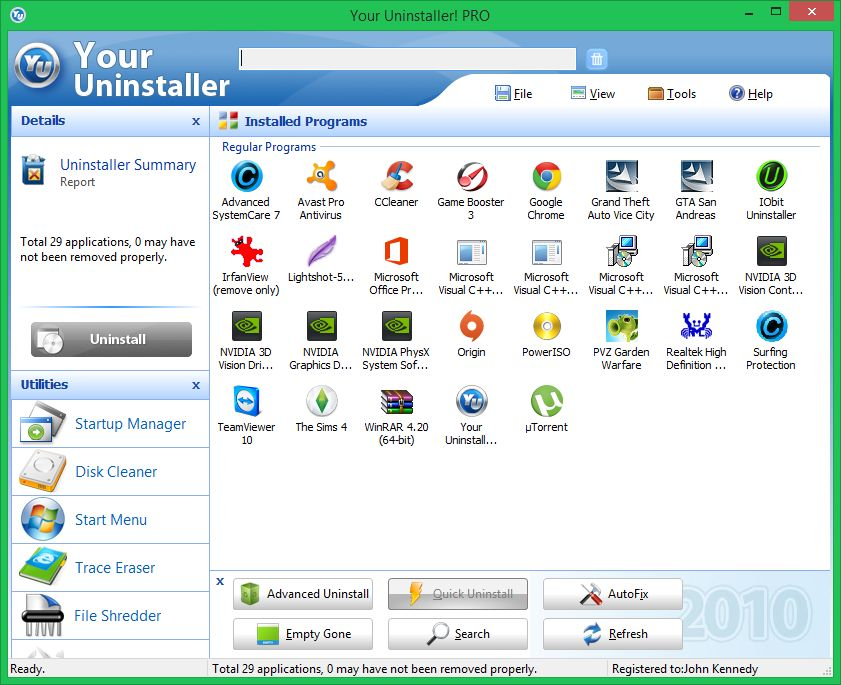Anti-virus uninstall tools. Av110
