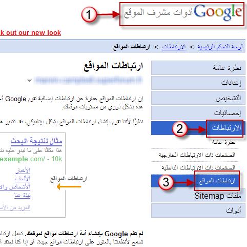 كيفية الحصول على ارتباطات المواقع لمنتداك في نتائج Google 25-05-12