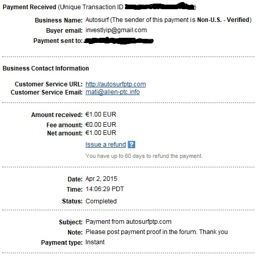 My payments Proof211