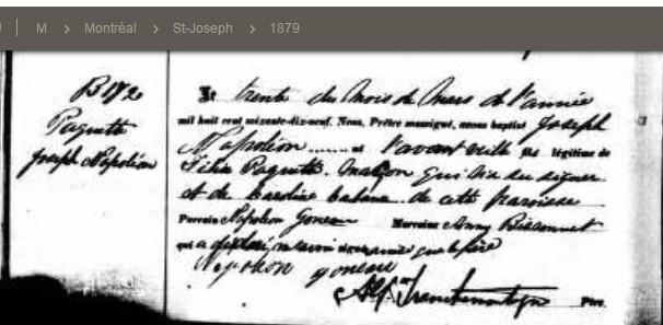 PAQUET Napoleon et DUMAIS Delima - Mariage ? Bnappa10