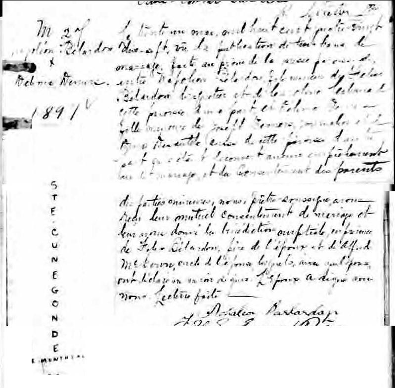 PAQUET Napoleon et DUMAIS Delima - Mariage ? Nariag10