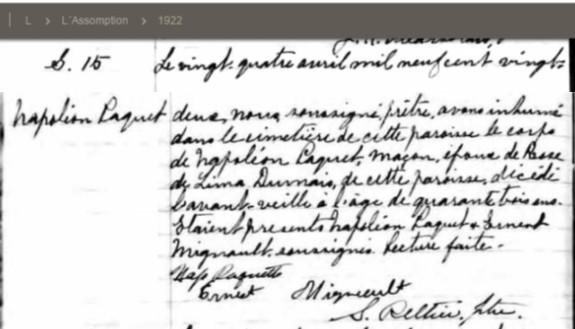 PAQUET Napoleon et DUMAIS Delima - Mariage ? Snappa10
