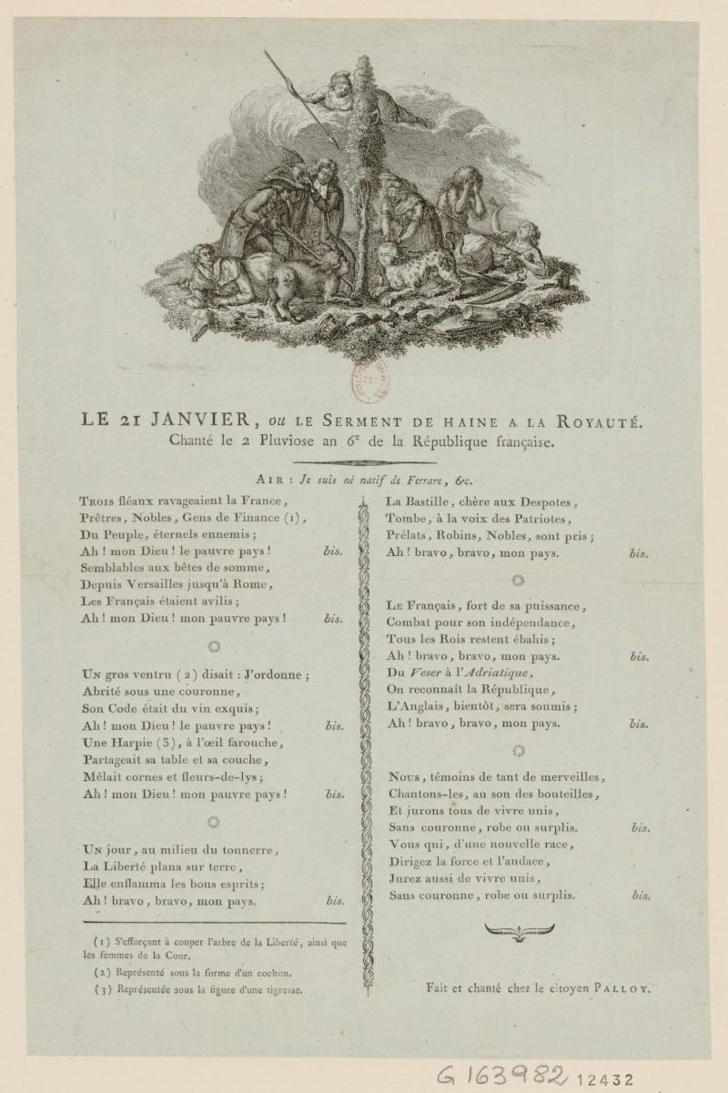 Chansons et poèmes satiriques au XVIIIème siècle Chant_10