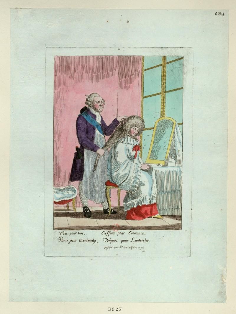 Les rois et reines caricaturés, les caricatures à l'époque de la Révolution française et de la Restauration - Page 2 Troc_p10