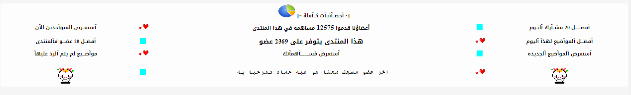 كود جميل للاحصائيات من صنع فارسة الاسلام14 149vc610