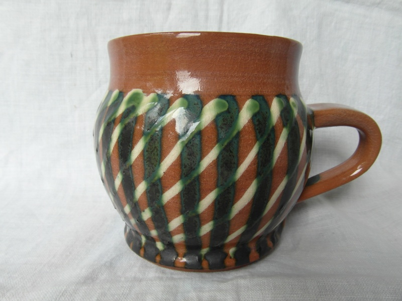 Terracotta slip-glazed mug Sam_4615