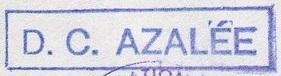 * AZALÉE (1953/1983) * 81-1210