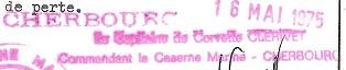 * CHERBOURG * Cachet17