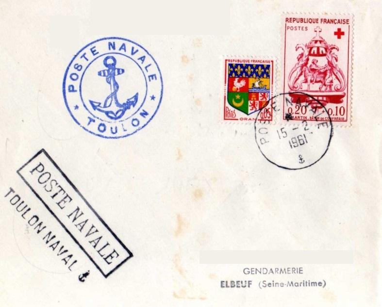* TOULON, Bureau Postal Naval * Img80010