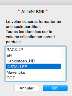 Installer OS X Mavericks V13 415