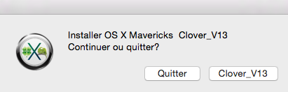 Installer OS X Mavericks V13 614