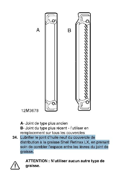 fuite d'huile...remplacement joint d'étanchéité - Couvercle avant (chaîne de distribution) V8 4.6 à partir AM99 Joint_10