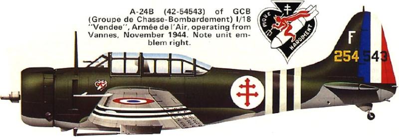 """Douglas A-24 Banshee du 1/18 """"vendée"""" (projet AA) 147_1_10"""
