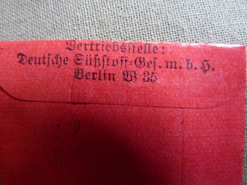 Sachets de saccharin Kristall P1190925