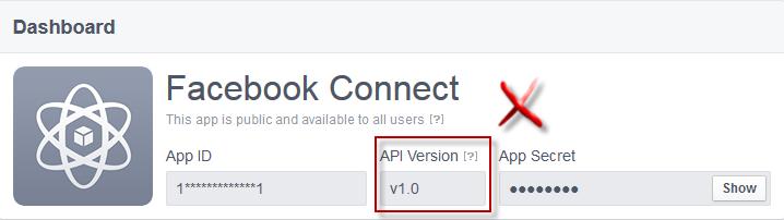Facebook connect: aggiornamento per gli amministratori Apps210