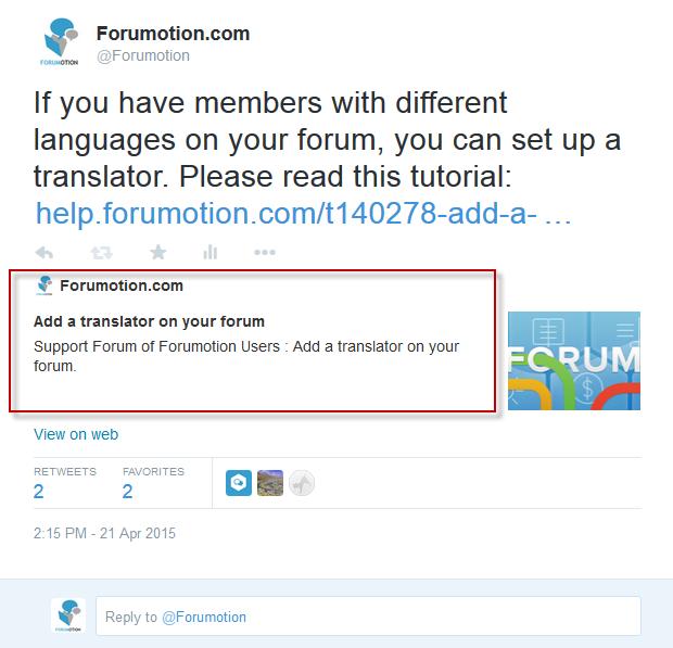 Hoe moet je de Twitterkaart op je forum gebruiken? Tags210