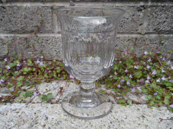 Antique flint glass goblet shaped piece ??? Glass110