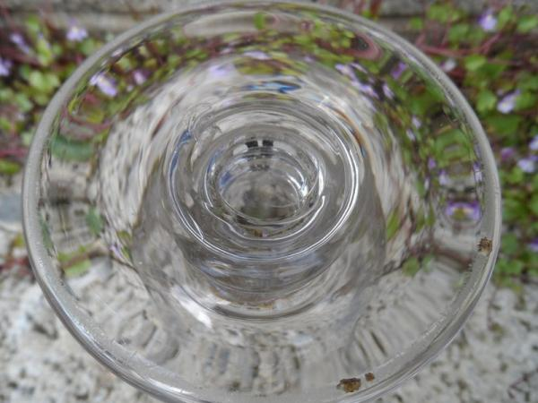 Antique flint glass goblet shaped piece ??? Glass410