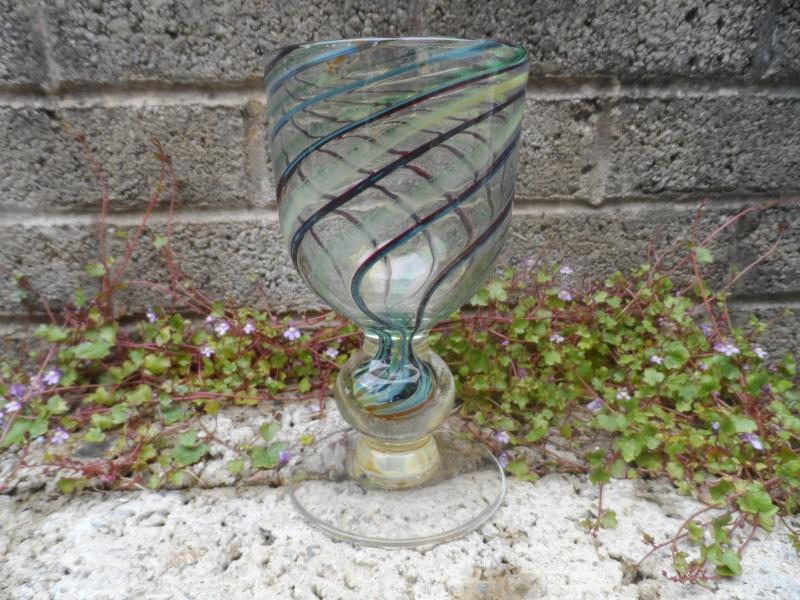 Vintage swirl glass vase/goblet #1 Sam_3214