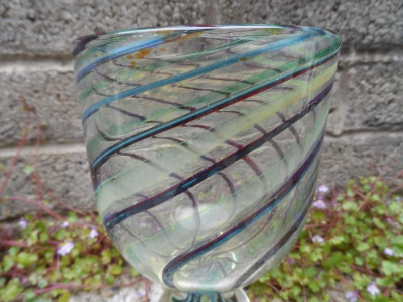Vintage swirl glass vase/goblet #1 Sam_3215
