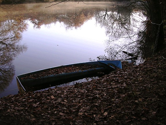 Sur l'étang immobile (Mots de Mai) Barque10