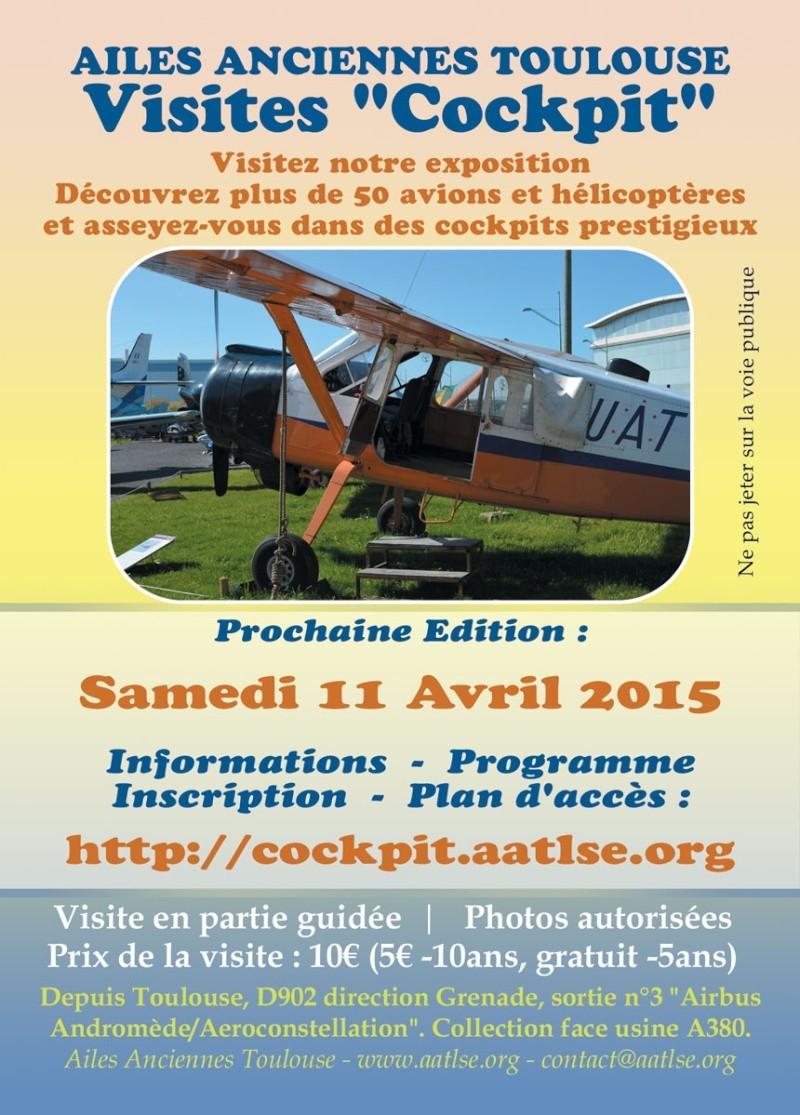 Journée cockpit aux Ailes Anciennes de Toulouse Affich10