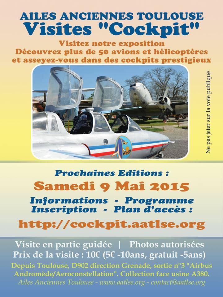 2nd visite cockpit aux Ailes Anciennes de Toulouse Visite10