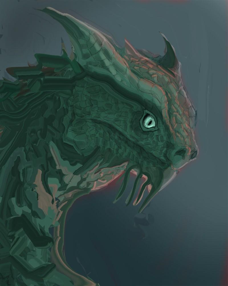 Les gribouilles d'Atna: objectif landscape et persos - Page 2 Dragon13