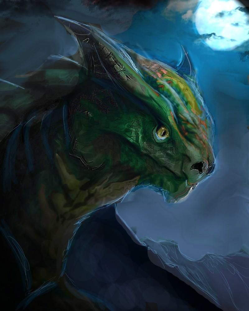 Les gribouilles d'Atna: objectif landscape et persos - Page 2 Dragon19