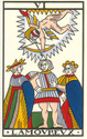 question tarot de marseille : amour Amoure11