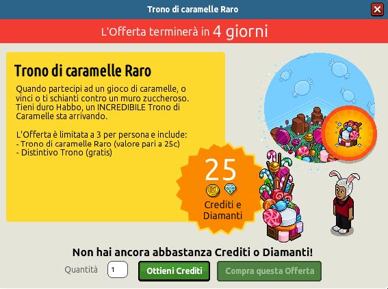 "[ALL] Offerta ""Trono di caramelle Raro"" 1154"