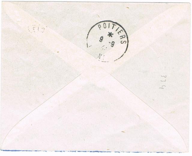 Emission de Poitiers Pétain 1 F 50 surcharge R F au type I Ccf13014