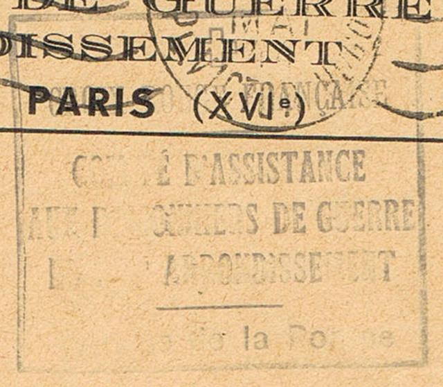 Enveloppe cachet «  *Croix-Rouge Française *  Reims  »,  TAD  « 10.7.43  Reims-Principal ». Taxée à 8 F . Ccf30010