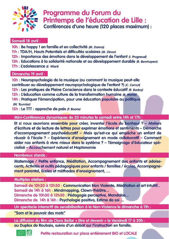 Le Printemps de l'éducation de Lille Printe11