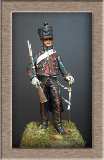 Hussard du 8ème Régiment en tenue de Campagne 1808 MM 54mm 74_10012