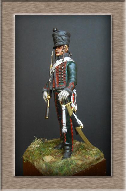 Hussard du 8ème Régiment en tenue de Campagne 1808 MM 54mm 74_10013