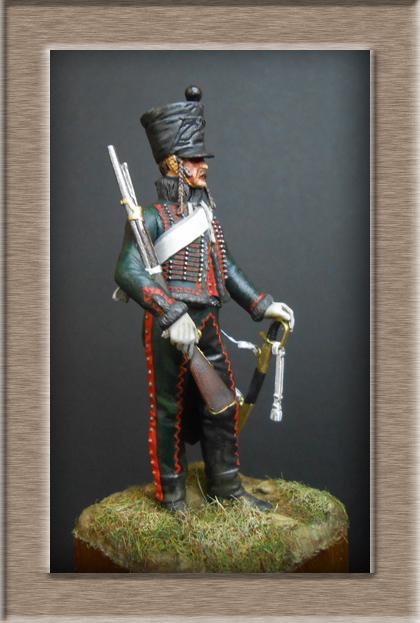Hussard du 8ème Régiment en tenue de Campagne 1808 MM 54mm 74_10113