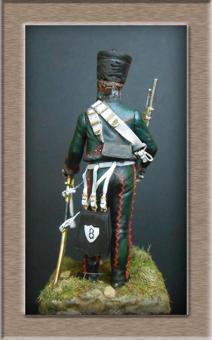 Hussard du 8ème Régiment en tenue de Campagne 1808 MM 54mm 74_10114