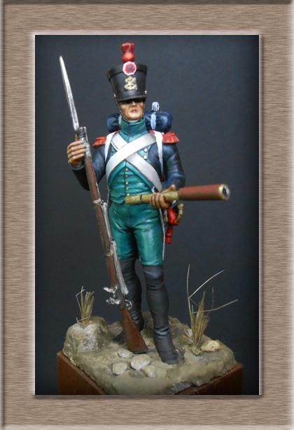 Canonnier Garde Côtes 1803-1812 Métal modèles modification 54mm 74_16812