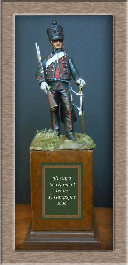 Hussard du 8ème Régiment en tenue de Campagne 1808 MM 54mm 74_99711