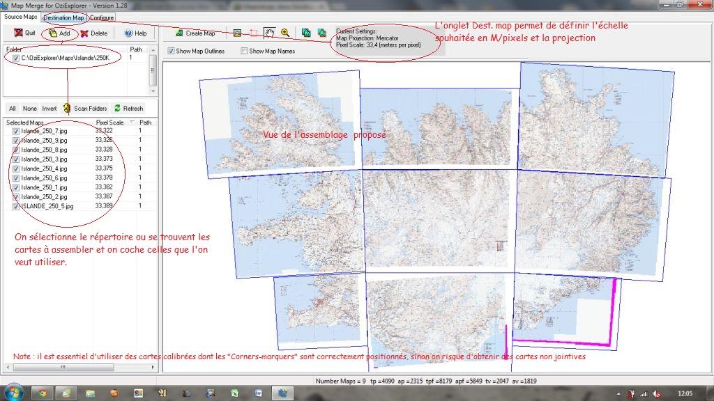 Conversion avec Mapmerge Mapmer10
