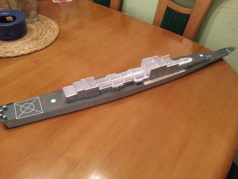 U.S.S. Long Beach   VK-Design  1:250 gebaut von Paperfreak 20150521
