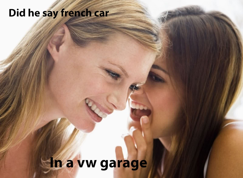 spot the vw in the workshop French10
