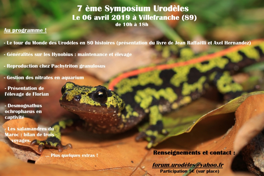 Symposium Urodèles 2019 Tritur10