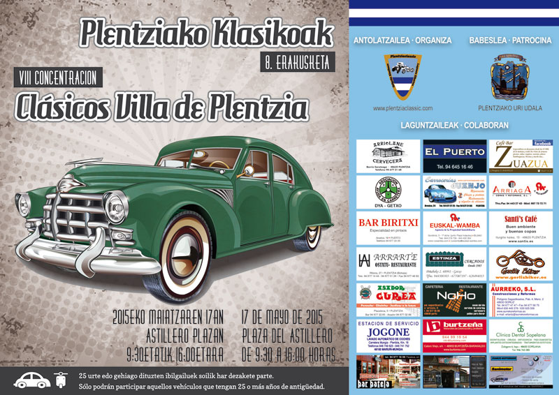 VIII Concentración Plentzia Classic (17 mayo 2015) - FOTOS Cartel11