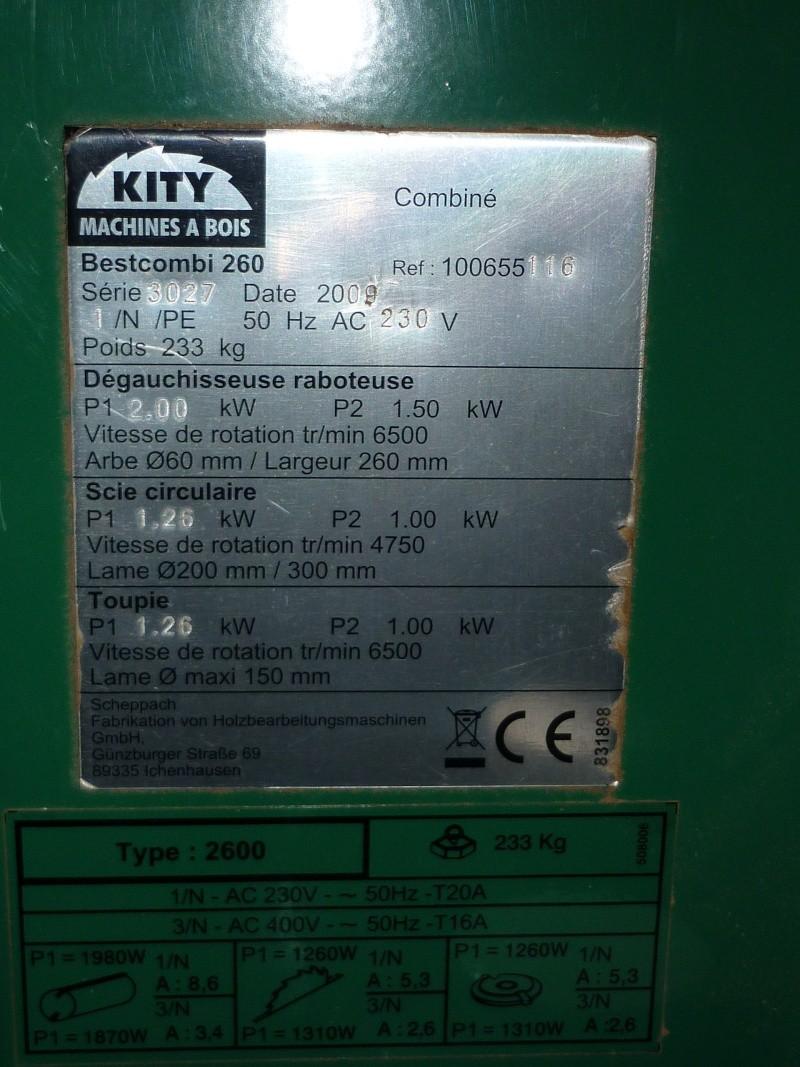 Comment accéder au moteur de la raboteuse  combinée Kity260 P1030416