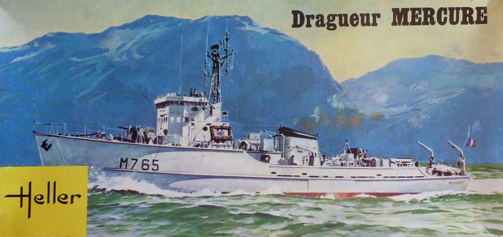 Dragueur de mines Mercure 1/400eme base Heller Mercur10