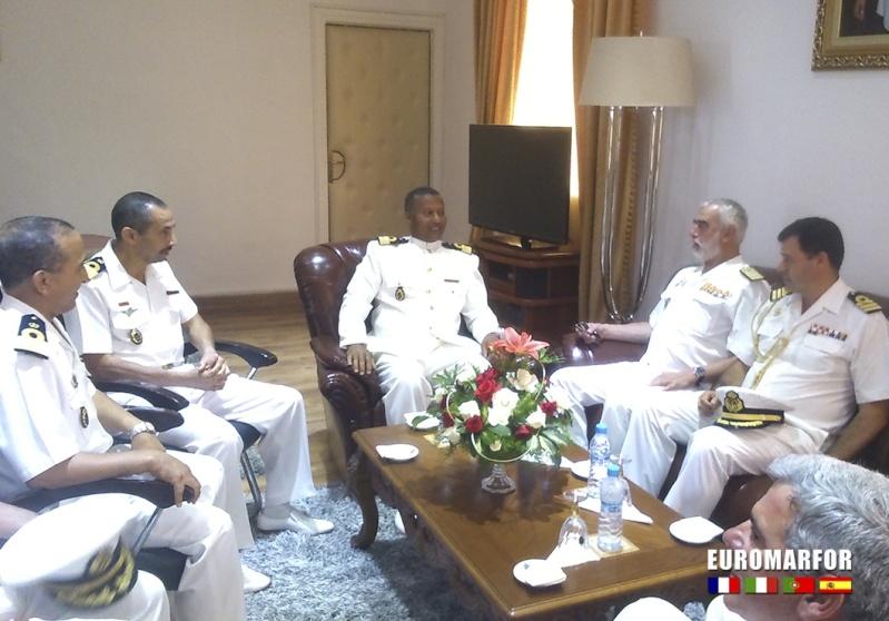 Royale - Officiers participants exercice marine Maroc  royale  Europe Emf-mc10