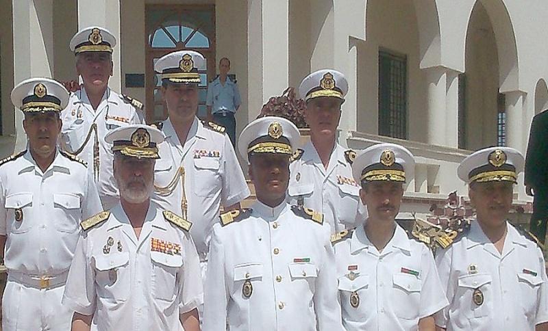 Officiers participants exercice marine Maroc  royale  Europe Maj210